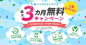 mineo「人気オプション最大3カ月無料キャンペーン」