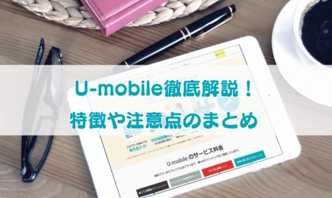 U-mobile徹底解説記事のサムネイル画像