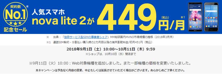 【楽天モバイル】契約数No.1記念セール!