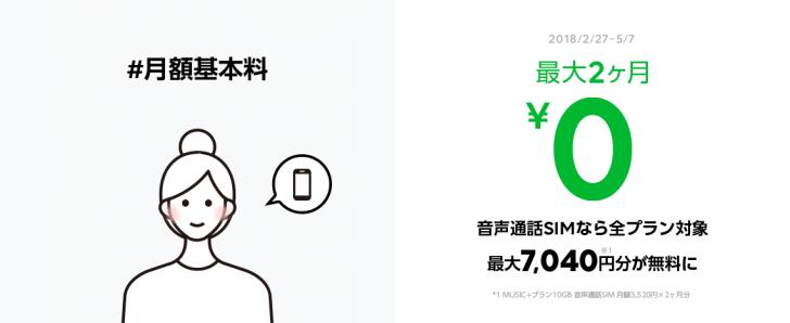 月額基本利用料ゼロ円キャンペーン