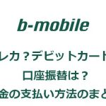 b-mobileの料金の支払い方法について
