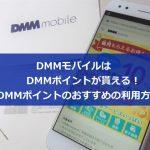 DMMモバイルはDMMポイントが貰える!DMMポイントのおすすめの利用方法について