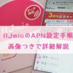 IIJmiのAPN設定手順を写真付きで解説