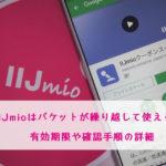 IIJmioはパケットを繰り越して使える!有効期限の確認手順の詳細